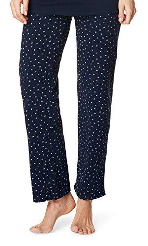 Noppies Umstands-Loungehose Pyjama Hose Damen Umstandsmode Nachtwäsche 66601 (S, dark navy)