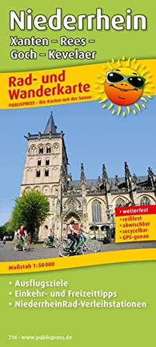 Preisvergleich Produktbild Rad- und Wanderkarte / RuWK: Niederrhein, Xanten - Rees - Goch - Kevelaer: Rad- und Wanderkarte mit Ausflugszielen, Einkehr- & Freizeittipps, wetterfest, reißfest, abwischbar, GPS-genau. 1:50000