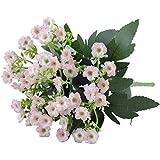 1 mazzo di fiori artificiale per tessuto artificiale decorazione del partito della casa del gelsomino Bouquet gambo del fiore