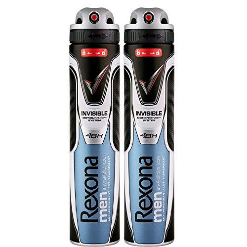 Rexona men - Invisible Ice - Desodorante para hombre, 200 ml, pack de 2 unidades