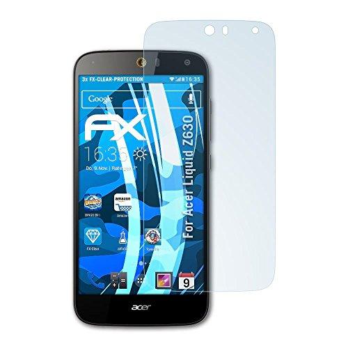 atFolix Schutzfolie kompatibel mit Acer Liquid Z630 Folie, ultraklare FX Displayschutzfolie (3X)