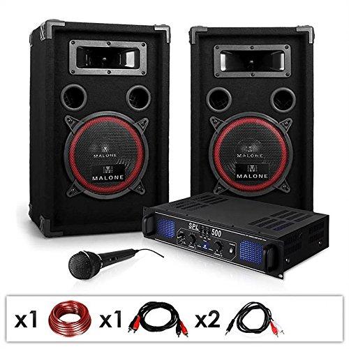 DJ-14 Equipo Sonido Profesional PA 500W Amplificador
