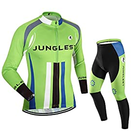 ddd2384f5a [Taglia:S-5XL][opzione:Bretella,3D 2.8cm Cuscino] Moda Maglia Ciclismo  Jerseys Per Uomo lunga manica Tuta Estivo Abbigliamento bici della  Pantaloni Pants ...