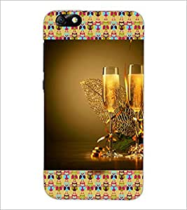 PrintDhaba Wine Glasses D-3612 Back Case Cover for HUAWEI HONOR 4X (Multi-Coloured)