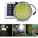 Kit de iluminación solar de exterior/interior ROXY-G2 con batería de litio, sensor fotográfico de encendido/apagado automático, control de brillo de 3 niveles, cable de 4,50 m (15 ft)
