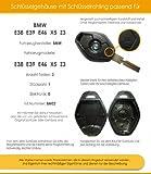 bmw schl ssel neu auto funkschl ssel e38 e39 e46 x5 e53 e60 e63 mit 3 tasten ersatzschl ssel. Black Bedroom Furniture Sets. Home Design Ideas