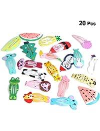 Vosarea Pinza de Pelo de Metal Diseño de Fruta Animales Navidad Colores para Accesorio de Cabello Bebés Niñas 50pcs (Colores Aleatorio)