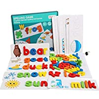 GoGlor Math Learning Toy Wood Counting Rods Number Cards, Learn To Count Puzzle Arithmatic Montessori STEM Educational Game, Colourful 105 Counting Sticks 60 Number Cards