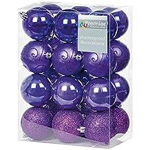 Amazon.fr : boules de noel violette