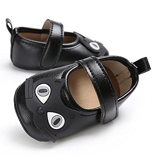 Gloryhonor , Chaussures premiers pas pour bébé (fille) rose rose 12-18 mois noir