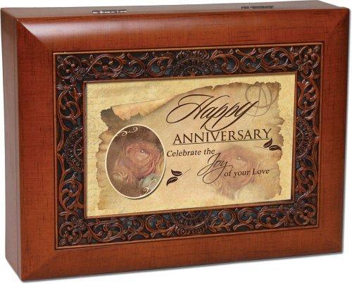 Happy Anniversary Music Box by Cottage Garden