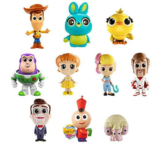 Disney Pixar Toy Story4 - Pack de 10Mini-figurines à collectionner, Cadeau d'anniversaire pour enfants de 3 à 8ans