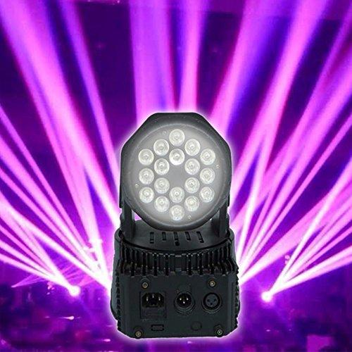 Mini Proiettore Effetto Luci Laser Per Disco Discoteca Dj.Proiettore Led Rgb Testa Rotante Mobile Effetti Disco Dj 18 Led 10w