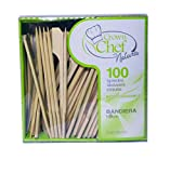 Crown 5 Confezioni da 100 SPIEDINI 9 cm Bandiera Bamboo biodegradabili sterilizzati stuzzicadenti - Best Reviews Guide