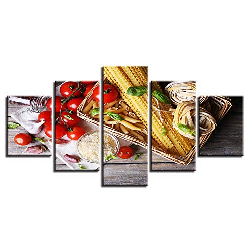 r Hd Drucke Wandkunst Cuadros Wohnkultur 5 Stücke Tomaten Caprese Salat Pasta Malerei Lebensmittel Poster Modulare Arbeit Rahmenlose 30 * 40 * 2 30 * 60 * 2 30 * 80 cm ()