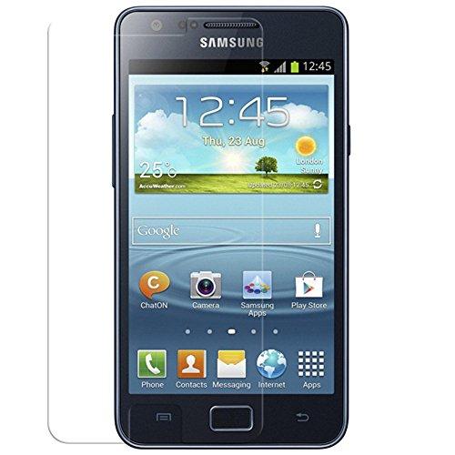 Aiino Pellicola Adesiva Protettiva Schermo Display Accessorio per Smartphone Cellulare Samsung Galaxy Sii Plus - Ultra Clear, Trasparente