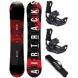 Airtracks Snowboard Set/Eight Snowboard Wide Hybrid Rocker + Bindung Master Fastec + SB Bag / 150 155 160 164 / cm