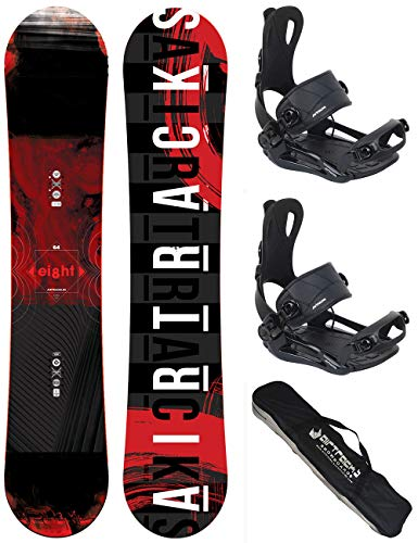 Airtracks snowboard set - tavola eight wide 150 - attacchi master l - sb bag