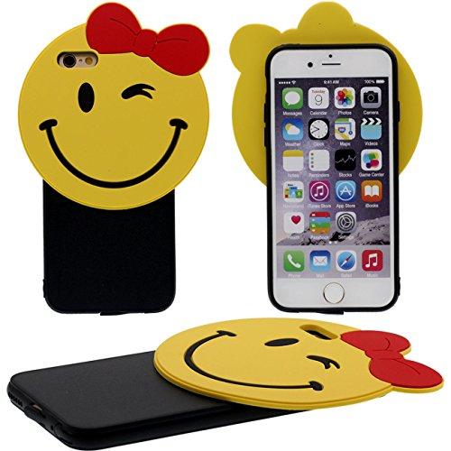 Coque Protection Case pour Apple iPhone 6 / 6S 4.7 inch, Dessin animé Mignon Ours Forme Flexible Plastique Gel Poids Léger Mince noir