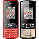 I KALL 1.8 Inch (4.57 Cm) Dual Sim Feature Phone Combo - K24 (Red) And K25 (Black)