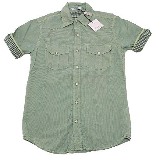 7194P camicia uomo lime BERNA manica corta shirt men short sleeves [M]