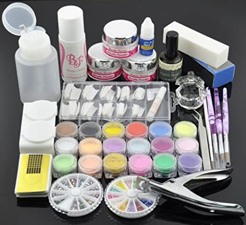 BF New Professional Nail Art Primer Acrylic Powder Liquid Pens Brush Nail Decoration Kit #777