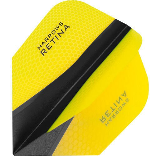 HARROWS Retina x 100 Micron freccette - Scegli Colore e numero di set, Yellow, 1 Set (3 Flights)