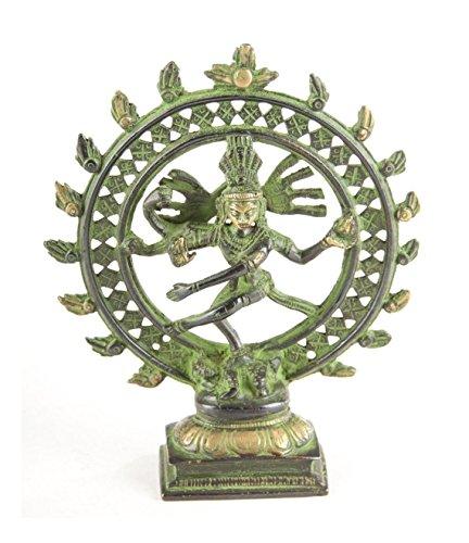 dsnetz Shiva Nataraja im Rad Figur Messing 15 cm | Indischer Gott tanzende Shiva | Hinduismus Religiöse Statue Herr des Tanzes Natraj Dekofigur | Esoterik Geschenke günstig online kaufen