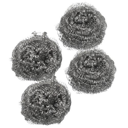 sourcingmap® 4 Stücke Küche Edelstahl Spiral Topfreiniger Ball Kratzschwamm Topfkratzer de