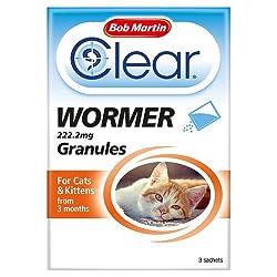 Bob Martin Clear Wormer Granules For Catskittens, 3 Sachets