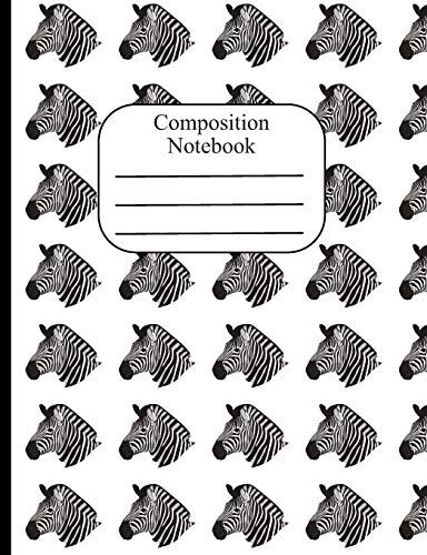 Equus Zebra (Composition Notebook: Zebra Polka Dot Wide Ruled Composition Book - 120 Pages - 60 Sheets)