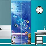 Fliegengitter Tür Insektenschutz Magnet Fliegenvorhang - der Magnetvorhang ist Ideal für die Balkontür, Kellertür, Terrassentür.-A 100x210cm(39x83inch)