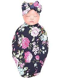 SamMoSon ☀☀Conjuntos De Ropa para Bebés Niño,2 Piezas Bebé Recién Nacido Bebé Swaddle Manta Durmiendo Abrigo + Diadema Conjunto