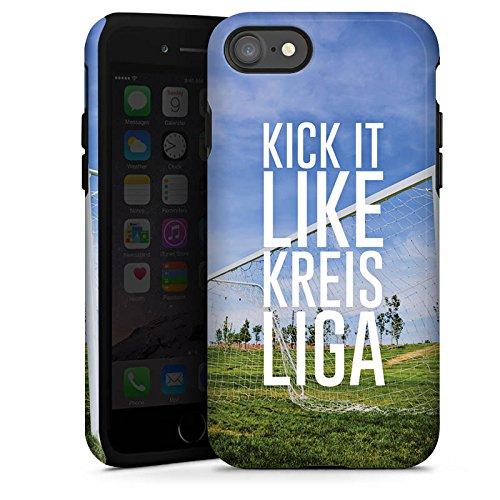 Apple iPhone X Silikon Hülle Case Schutzhülle Kreisliga Fußball Tor Tough Case glänzend