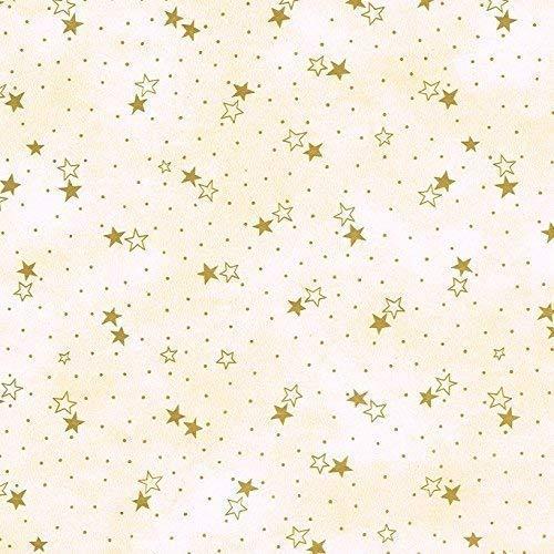 KEVKUS Toile Cirée Nappe Table au Mètre Noël Étoiles Beige 241204-7 Taille au Choix en Carré Rond Ovale - Bariolé, 140 x 250 cm Oval