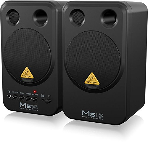 Behringer MS16 Coppia Monitor Audio Professionale Attivi 16w