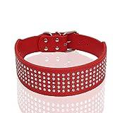 VingDeone Hundehalsband, Leder, Verstellbare Schnalle, weich, echtes Halsband für Hunde und Katzen, langlebig, Halsband