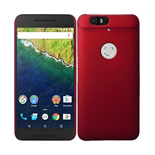 WOW Imagine(TM) Rubberised Matte Hard Case Back Cover For HUAWEI NEXUS 6P (Maroon Wine Red)  available at amazon for Rs.169