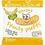 Kiddylicious Banana Fruity Puffs 7mois + (10g) - Paquet de 2