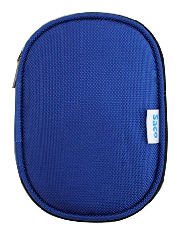 Saco Shock Proof External Hard Disk Case for WD Elements Portable 500GB USB 3.0 External Hard Drive - Blue