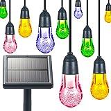 Ghirlanda luminoso solare LED WOLFWILL 12LED impermeabile IP652modalità di illuminazione–Illuminazione d' Atmosfera per albero di Natale, Casa, patio, Prato, feste e vacanze