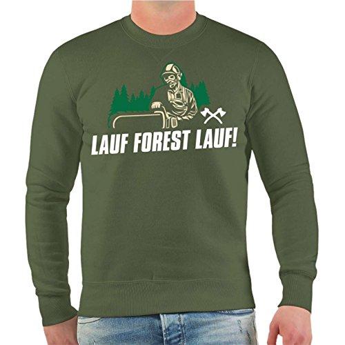 Männer und Herren Pullover Lauf Forest Lauf Größe S - 10XL Olive