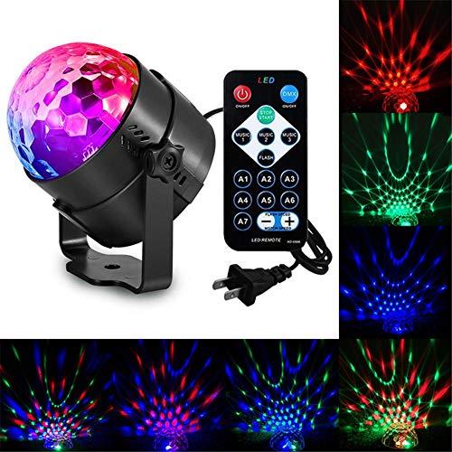 Sound Activated Party Lights Mit Fernbedienung DJ Lighting, RBG Disco Ball, Stroboskoplampe 7 Modi Stage Par Light Für Home Room Dance Halloween-Partys Geburtstag DJ Bar Karaoke Xmas Hochzeitsshow