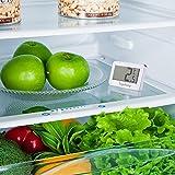 Kühlschrank-Thermometer, SUPLONG digitale wasserdichte Kühlschrank mit Gefrierfach Thermometer mit gut lesbarem LCD-Anzeige Lesen Perfekt für Innen / Außen / Home / Restaurants / Bars / Cafés - 5