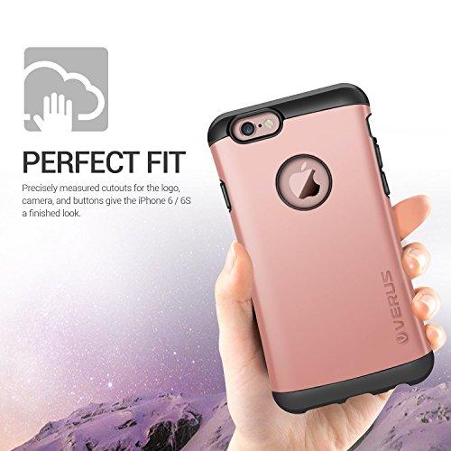Verus Thor harte Bumper Schutzhülle für Apple iPhone 6 Plus Hot Pink Charcoal Black