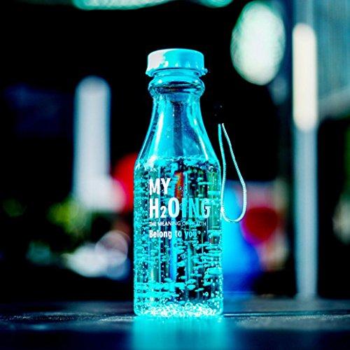 hkfv Fashion Creative deportes al aire libre botella de agua botella de...