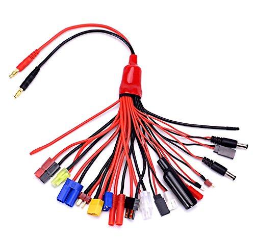 YUNIQUE ESPAGNE® 19-en-1 Banana Plug RC Lipo Charger Adapter Cable IMAX / B6 / B6AC / TRX / JST / FUTABA / T-Plug / XT60 / EC3 / EC5 / HXT4MM / TAMIYA / Traxxas para RC Cars Helicópteros Quadcopters DJI