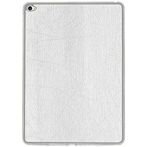 Casotec Retro Style Soft TPU Leather Back Case Cover for Apple iPad Air 2 - White