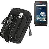 K-S-Trade Gürtel Tasche kompatibel mit Crosscall Action-X3 Gürteltasche Schutzhülle Handy Hülle Smartphone Outdoor Handyhülle schwarz Zusatzfächer