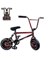 Mini vélo BMX Freestyle–Light Fat Pneus avec 3pce Manivelle & Spring Accessoires pour Pro pour débutant–CES Bad Boy vélos sont parfaits pour Stunt Trick & Racing (Rouge Splash) par Ride 858